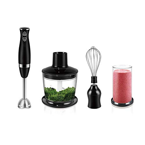 LIANGANAN Juicer Black 3-in-1 Stainless Steel 2-Speeds Immersion Electric Blender Food Mixer Kitchen Vegetable Meat Grinder 500ml Chopper Whisk Sonifer SF8044-black zhuang94 (Color : Sf8044black)