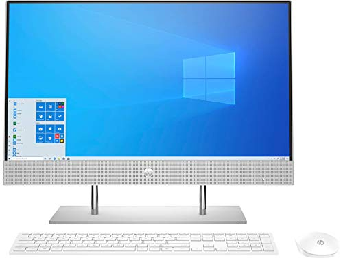 HP 23.8-inch FHD All in One Desktop with Alexa Built-in(10th Gen Intel Core i3-1005G1/8GB/512 GB SSD/Windows 10/ MS Office 2019/Natural Silver), 24-dp0816in