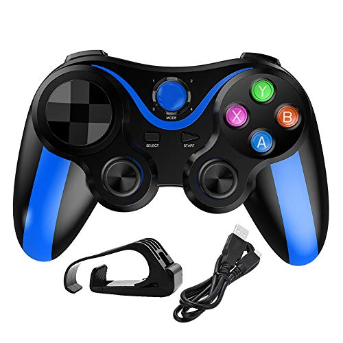 RONSHIN Play for Phone Gamepad Game Wireless Bluetooth Controller Joystick for Xiaomi Redmi PS3 Phone PC Players Blue