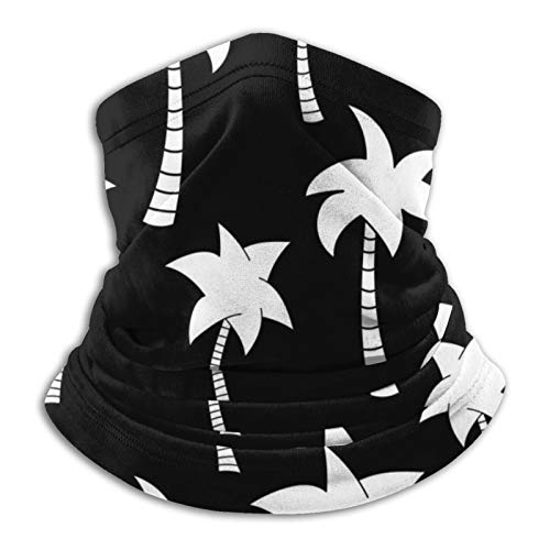 Towel&bag Palm Tree Silhouette Anime Multifunctional Microfiber Neck Warmer Scarf Black