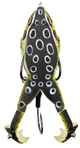 """Lunkerhunt Prop Frog, Croaker – Fishing Lure with Realistic Design, Prop Action Calls in Fish, Great for Bass and Pike, Freshwater Lure with Hollow Body, Weighs ½ oz, 3.5"""" Length"""