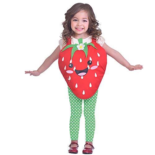 Generique - Disfraz Fresa Dulce niña 3-5 años (104 cm)