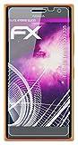 atFolix Glasfolie kompatibel mit Nokia Lumia 730/735 Panzerfolie, 9H Hybrid-Glass FX Schutzpanzer Folie