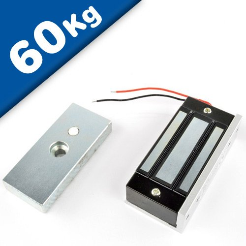 Elektromagnet Schloss Elektromagnetische Türschlösser - Haftkraft 60kg - Elektro-Magnetisches Türschloss - Elektro-Magnet Verriegelung - Perfekt für die Sicherung von Schränken und Türen