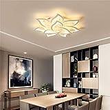 LLDKA Moderne Kreative Deckenlampe LED Deckenleuchte Intelligente Regelung Dimmen Weiße Acryl Lampenschirm Beleuchtung,10heads