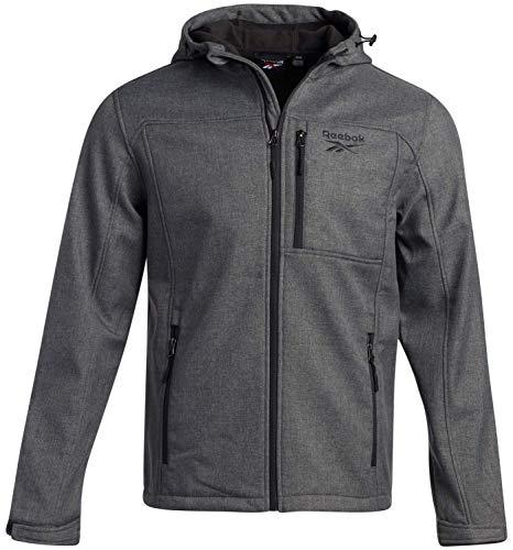 Reebok Men's Jacket - Lightweight Fleece Lined Softshell Wind Resistant Raincoat, Size...