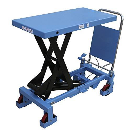 HanseLifter SPA800 mobiler Hubtisch mit 800kg Tragfähigkeit und 1000mm Hubhöhe, Lichtblau