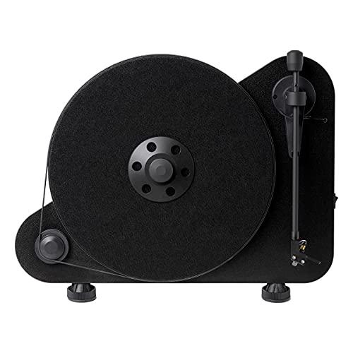 Pro-Ject VTE Platine Vinyle Positionnement Verticale pour Droitier, Noir