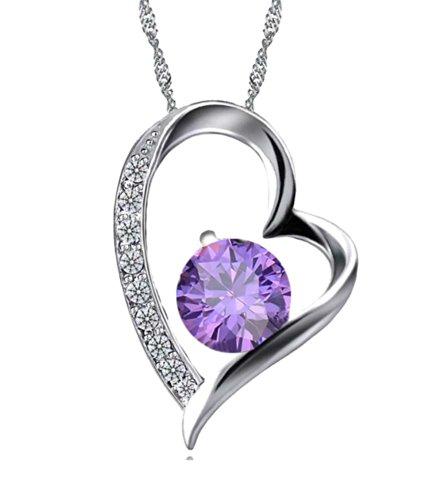 Celebrity Jewellery Damen-Halskette mit Anhänger Silber Herz-Design 45 cm