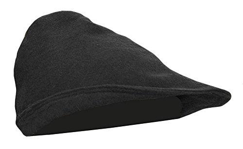 Mittelalter Hut aus Wolle Robin Hood 100% Wolle Hut Haube Ritter LARP Kleidung Wikinger (Schwarz)