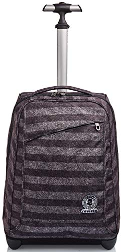 Trolley Invicta , Stripes, Grigio, 2 in 1 con Spallacci per uso Zaino