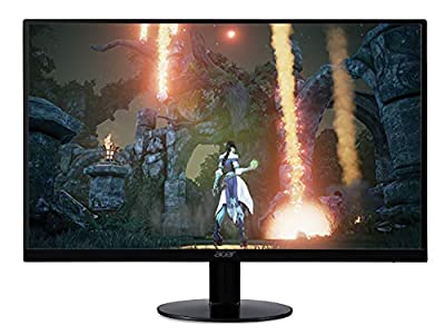 "Acer SB230 Bbix 23"" Full HD (1920 x 1080) IPS Ultra-Thin Zero Frame Monitor with AMD Radeon FREESYNC Technology - 1ms | 75Hz Refresh (HDMI & VGA ports), Black"