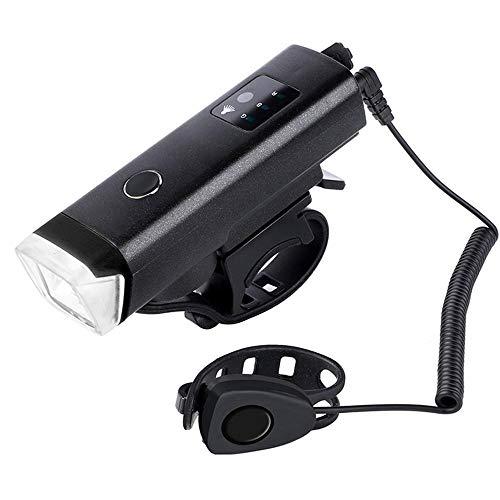 XWYWP Juego de luces de bicicleta para bicicleta, luz delantera y trasera, recargable por USB, resistente, linterna LED, impermeable, para bicicleta