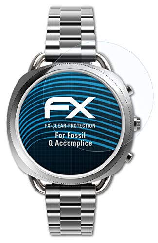atFoliX Schutzfolie kompatibel mit Fossil Q Accomplice Folie, ultraklare FX Bildschirmschutzfolie (3X)