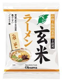 オーサワのベジ玄米ラーメン(みそ) 118g(うち麺80g)×20個 JAN:4932828066868