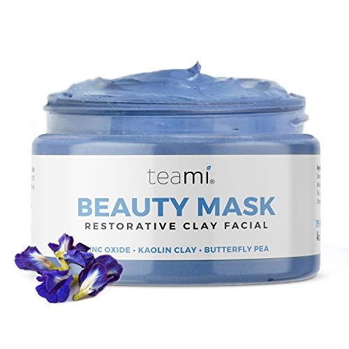 Teami Kaolin Clay Face Mask - Our Moisturizing Face Mask for Women with Acne, Blackheads, Oily, Dry, or Even Sensitive Skin - All Natural and Vegan Exfoliating Face Mask with Zinc Oxide and Aloe