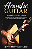 Acoustic Guitar: A Beginner's Guide to Learn The Important Techniques of Playing Acoustic Guitar Like A Pro (English Edition)