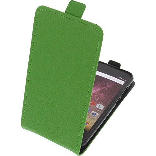 foto-kontor Tasche für Archos Core 50p Smartphone Flipstyle Schutz Hülle grün