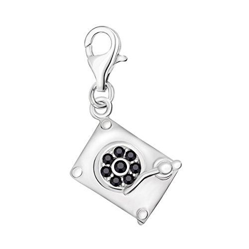 Quiges Zilveren Charm Bedel Hangers DJ Set voor Armbanden en Accessoires