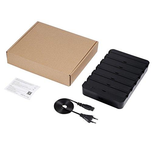 Kitechildhssd YA60WS-6U 6 Puertos USB Smart WiFi Estación de Carga de Carga rápida Ahorro de Espacio Enchufe Negro de la UE