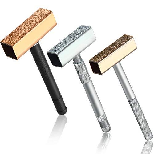 3 Stück Schleifscheibe Dresser Diamant Schleifscheibe Stein Kommode Werkzeug mit Flach Diamant Beschichtet Oberfläche zum Abrichten Schleifen Entgraten Räder
