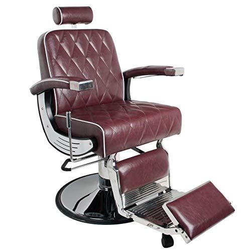 Activeshop Friseurstuhl Friseursessel Frisörstuhl Friseureinrichtung Friseurbedarf Barber Chair Imperial Bordeauxrot