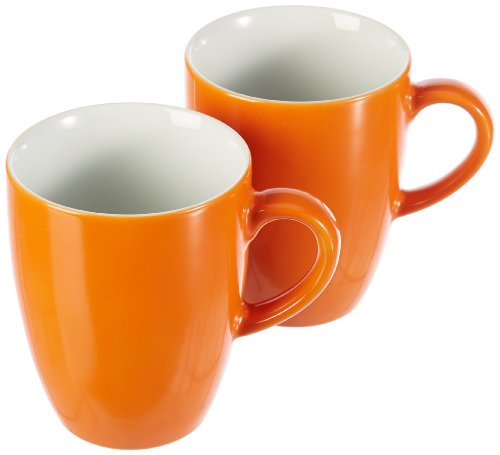 Kahla 57C136A72556C Kaffeebecher-Set 2-teilig Pronto, orange
