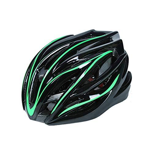 TOYHEART Casco De Bicicleta 54-62 CM, Casco De Seguridad Ajustable para Ciclismo Ligero Ajustable En Molde Verde Fluorescente
