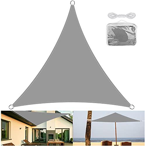 OVAREO-toldo Vela de Sombra Triangular 3 x 3m,toldos Vela exterio ,Protección Rayos...
