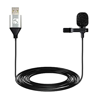 Industry Standard Sound ISSLM420 USB Lapel Clip On Microphone