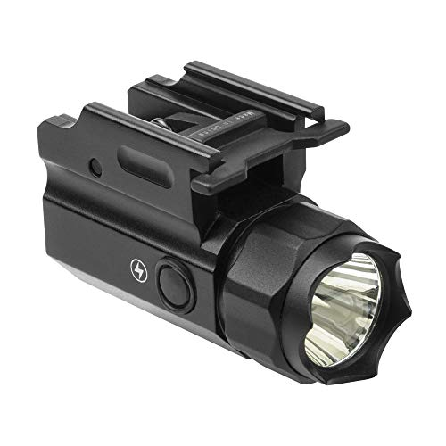 M1SURPLUS Compact Size Tactical LED Flashlight with Defensive Strobe Function fits Glock 19X G19X CZ P-07 P-09 P-10 Pistol FN509 Tactical Model