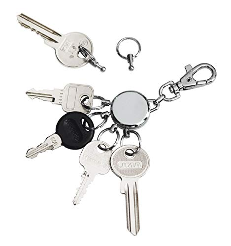 Troika Basic CR – die geniale Schlüsselorganisation | Macht selbst den größten Schlüsselbund einfach zu handhaben | Schlüsselwechsel in Sekunden | Höchste Qualität & Sicherheit – Geschenkverpackung
