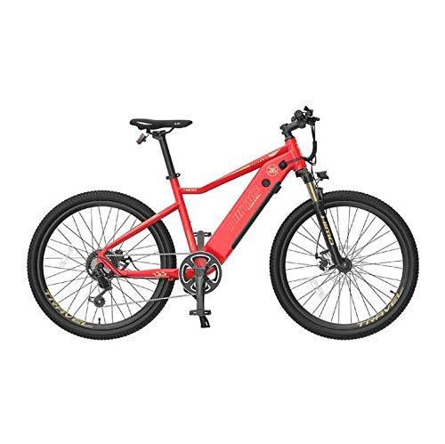 Bicicleta de montaña eléctrica de 26 pulgadas para adultos con batería de iones de litio de 48V 10Ah / motor de 250W DC, sistema de velocidad variable Shimano 7S, marco de aleación de aluminio,Rojo