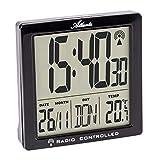Atlanta Despertador digital con 2 alarmas y luz y repetición de temperatura, 1891/7