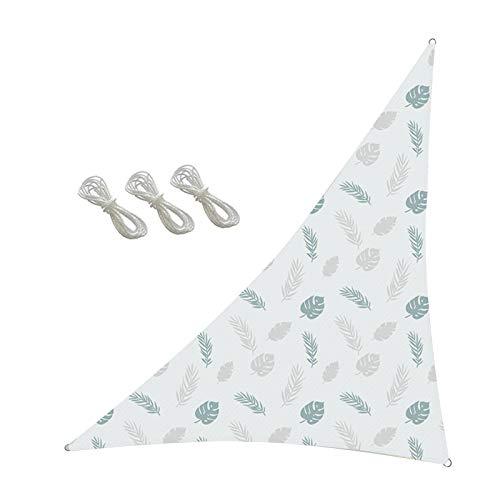 æ— Vela triangular para sol, 3,6 x 3,6 x 3,6 m x 3,6 m, con patrón impreso y 3 cuerdas, toldo para exteriores, jardín, patio, patio, camping, etc