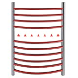 bbee.tech Heated Towel Rack, Towel Warmer with Timer, Wall Mounted hot Towel Warmer for Bathroom, Hardwired or Plug-in Models