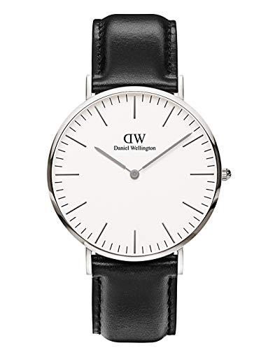 Daniel Wellington Classic Sheffield, Schwarz/Silber Uhr, 40mm, Leder, für Herren