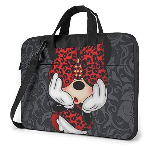 14 Inch Laptop Bag Minnie Mouse Laptop Briefcase Shoulder Messenger Bag Case Sleeve