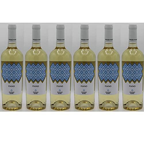 Poggio Marù Fiano - 6 Bottiglie Vino bianco di Puglia