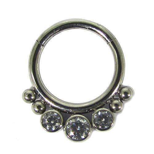 NewkeepsR 16G 8mm (5/16'') G23 Titanio Jeweled Clicker Segme