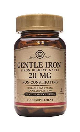 Solgar® Gentle Iron (Bisglicinato de hierro) 20 mg Cápsulas vegetales - Paquete de 90