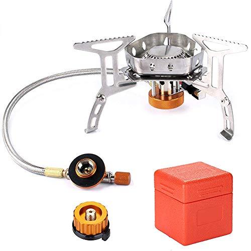Yisily Plegable Mini Estufa De Camping Gas con Encendido Piezoeléctrico Camping Cocina Cocina De Gas Portátil con Estuche De Transporte para La Comida Campestre Que Acampa con Mochila De Escalada