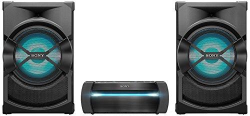 Sony SHAKEX30PI - Sistema de Audio de Alta Potencia (Reproductor de CD y DVD, Sound Pressure Horn, Party Chain, LDAC, HDMI, Karaoke, Luces LED, Efectos de DJ) Negro