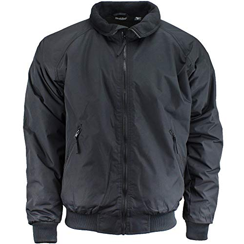 River's End Mens Bomber Jacket Athletic Outerwear Jacket, Black, XL