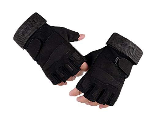 Halbfinger Sporthandschuhe, atmungsaktiv und rutschfest, Gel-Handschuhe geeignet für Erwachsene Outdoor-Sportarten (Mountainbike Trails und Laufen), Schwarz , m