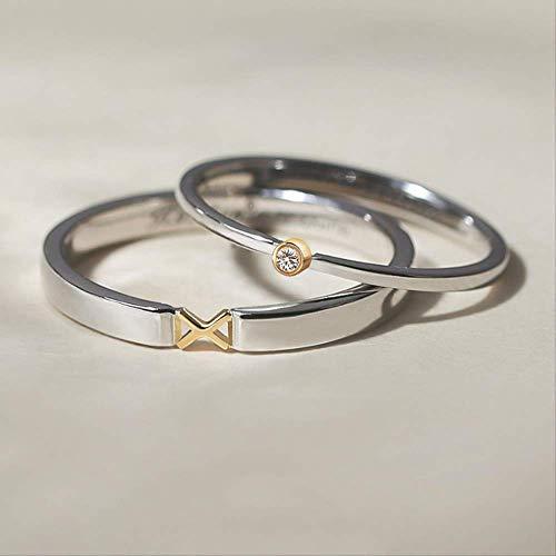 IWINO zilveren kleur klassieke zirkoon steen verlovingsringen 925 paar trouwringen minnaar vrouwen mannen mode-sieraden