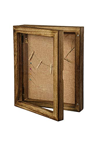 LucroTo Holz 3D-Bilderrahmen zum Befüllen Braun (20,3 x 25,4 x 5,7 cm) I Vielseitige Verwendung als Geldgeschenk oder Hochzeitsgeschenk incl. Accessoires