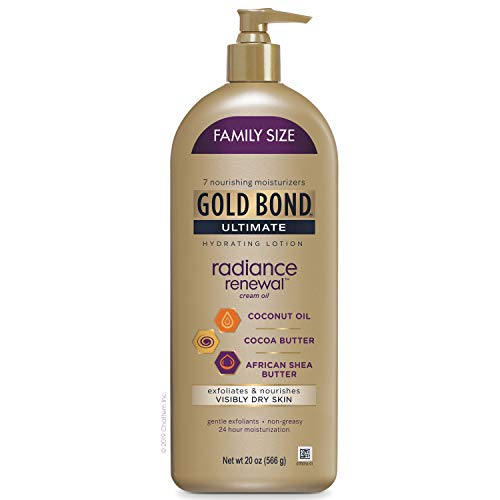 Gold Bond Ultimate 20oz Radiance Renewal Lotion, Hydrating Lotion for Visibly Dry Skin, Family Size