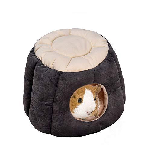 Oncpcare Warmes Meerschweinchen-Bett in Form eines Kaninchenhauses, weiches Zucker-Gleiter-Nest, kleine Tierhöhle, Versteck für kleine Tiere, Igel, Eichhörnchen, Chinchilla