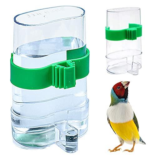 OYSJ 2PCS Pájaros Dispensadora de Agua, Comedero de Pájaros Automático, para Mascotas Aves Loros Palomas Alimentación Automática Agua Potable